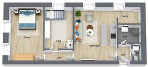Leistbare 3-Zimmer Familienwohnung vor den Toren Innsbrucks