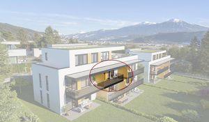 Kranebitten: 2-Zimmer Neubau-Wohnung mit Balkon (AW06)