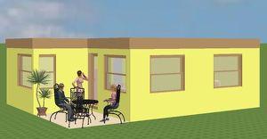 TINY KLEINFAMILIEN-BUNGALOW mit 48m² Nutzfläche und 3 Zimmer
