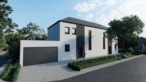 Exklusive Doppelhaushälfte mit Pool und Doppelgarage   406 m2 großes Grundstück   ruhige Wohnlage