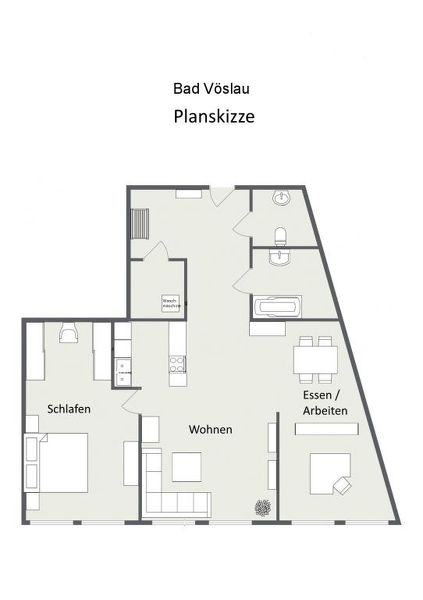 barrierefreie DG-Wohnung: viel Platz fürs Homeoffice