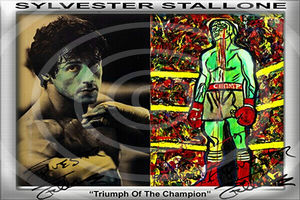 Sylvester Stallone. Einmaliger Kunstdruck. 45x30 cm. Muss man haben! Souvenir. Wandbild. Geschenk. Andenken. Sammelobjekt. Deko. BRANDNEU!