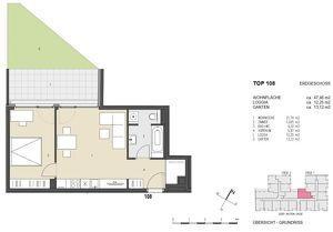 Neubau 2 Zimmer mit Gartenanteil bei der Neuen Donau!