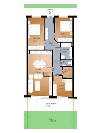 IN PLANUNG - NEUES BAUVORHABEN IM ZENTRUM VON RANSHOFEN (OÖ) 4-Zimmer-Garten-Wohnung mit Terrasse!