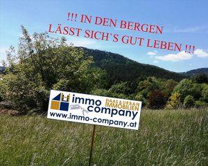 *** Grünbach – Schneeberg – Hohe Wand *** Großer Baugrund mit Sicht auf die umliegenden Berge !!!