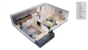 Schöne 3-Zimmer-Wohnung in absoluter Ruhelage