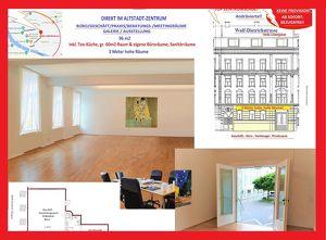 NÄHE MIRABELLPLATZ & LINZERGASSE: Hochparterre 96m2 helle, 3 Meter hohe Räume samt Tee-Küche & Bad-Sanitärräume – eigener Straßenzugang &
