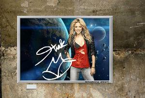 Shakira 2021. 45x30 cm. Bild. Muss man haben! Souvenir. Wandbild. Geschenk. Andenken. Sammelobjekt. Deko. BRANDNEU!