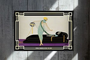 Erté alias Romain de Tirtoff. Meisterwerk. 45x30 cm. Souvenir. Wandbild. Geschenk. Andenken. Sammelobjekt. Deko. Rarität. BRANDNEU!