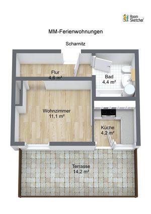 Saniertes Apartment mit 15 m² Terrasse ruhig am Waldrand gelegen