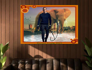 Daniel Craig alias 007 James Bond. Einmaliger Kunstdruck. 45x30 cm. Souvenir. Wandbild. Geschenk. Andenken. Sammelobjekt. Deko. Rarität. BRANDNEU!