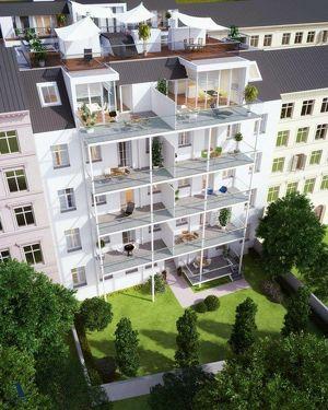 Unbefristet vermietete 114m² Altbauwohnung mit 24m² Balkon und Grünblick in Fußnähe zur Mariahilferstraße