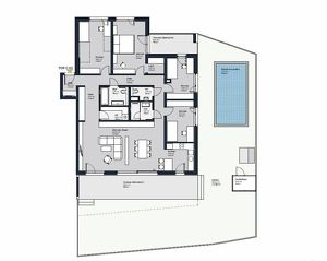 Wohntraum für anspruchsvolle - großzügige 5-Zimmer Wohnung mit Eigengarten. Moderner Erstbezug in Achau
