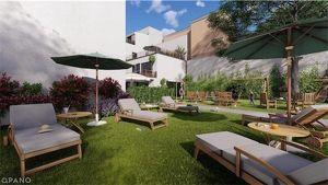 Gartenwohnung: Erstbezug in generalsaniertem Wohnhaus-Ausbau/Neubau, 33,49 m2 Wohnfläche + 96,13 m2 Garten, Fussbodenheizung, belagsfertig, neben zukü