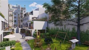 Terrassenhit mit Blick in Hausgarten: Erstbezug in generalsaniertem Wohnhaus-Ausbau/Neubau, Dachgeschoßmaisonette, 93,21 m2 Wohnfläche + 20,5 m2 Terra