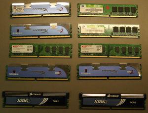 div. DDR2-Arbeitsspeicher