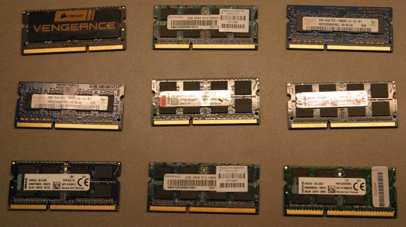 div. DDR3-Arbeitsspeicher (SO-DIMM)