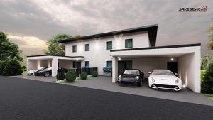 Attraktive Doppelhaushälfte mit Pool und Doppel-Carport (belagsfertig)