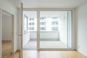 2-Zimmer-Neubauwohung mit praktischer Aufteilung und Loggia