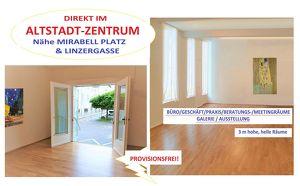 NÄHE MIRABELL PLATZ & LINZERGASSE - IM ALTSTADTZENTRUM SALZBURG: 96 m2 mit Küche, Bad, helle Räume