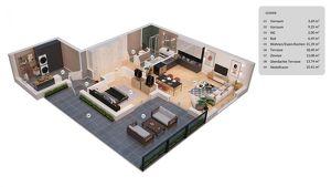 Moderne Singlewohnung mit großzügigem Garten