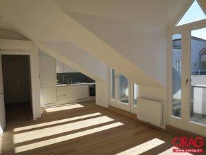 Moderne 2-Zimmer-Dachgeschoßwohnung mit zwei Terrassen Nähe Hoher Markt in 1010 Wien zu mieten