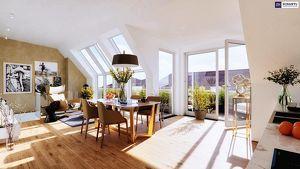 Abheben von der Konkurrenz... Traumhaft schöner Dachausbau mit hofseitger Terrasse und Balkon! Tolle Infrastruktur + Gute Anbindung!