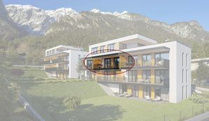 Kranebitten: 2-Zimmer Neubau-Wohnung mit Balkon (BW06)
