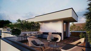PROVISIONSFREI - MODERNES WOHNEN IN WIEN-NÄHE! Reihenhaus mit Eigengarten, Dachterrasse und Keller in Privatstrasse<br />------------------<br />