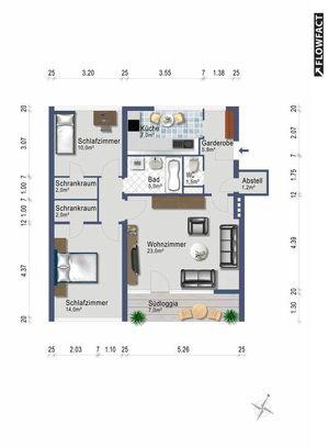 3-Zimmer mit Südbalkon in Aigen - ab 1. November - provisionsfrei - alles inklusive