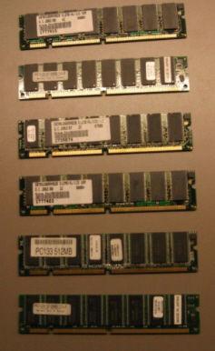 div. DDR1-Arbeitsspeicher