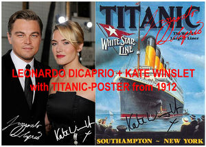 LEONARDO DICAPRIO+KATE WINSLET Titanic Souvenir. Geschenkidee. Zimmerdeko. Blickfang!  Einmalig! Wandbild. Neuheit!