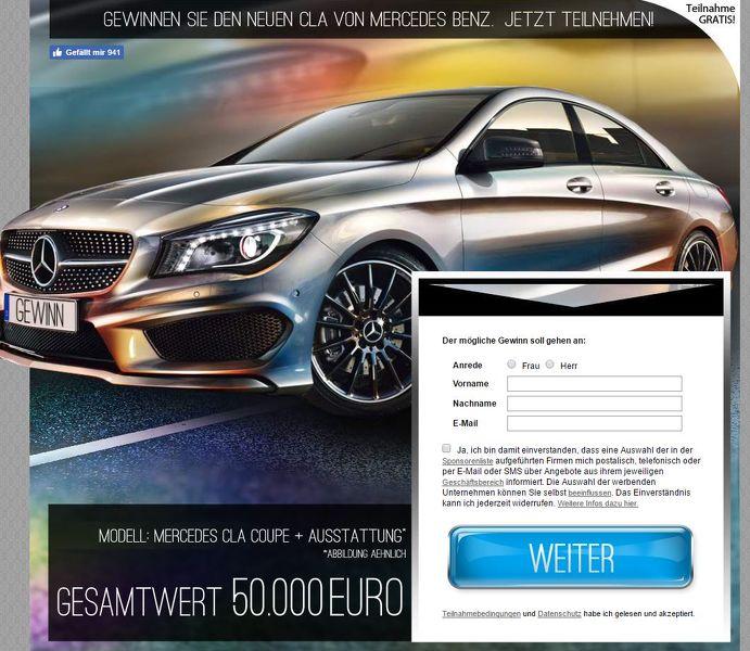 Mercedes CLA Gewinnspiel