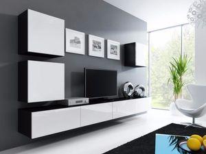 Hochglänzend attraktive Wohnmöbelset Viral Würfel Wohnwand NEU modern und elegant