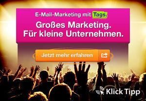 """eMail Marketing mit """"Klick-Tipp"""" -der Turbo für Ihr eMail Marketing - jetzt das Schulungs Webinar anschauen"""