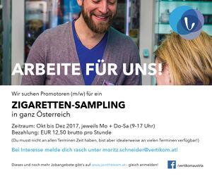 Zigarettensampling Okt. - Dez. 2017