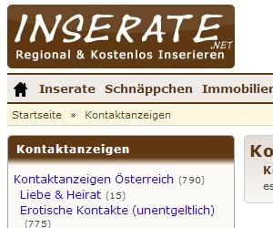 Inserate.net - Kontaktanzeigen