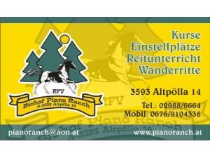 Wanderreiten, Ferienlager, Reiten lernen, Reiturlaub,Einstellplätze am Biopferdehof Piano-Ranch