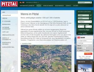 Wenns im Pitztal Informationsbüro - Ferienregion Pitztal