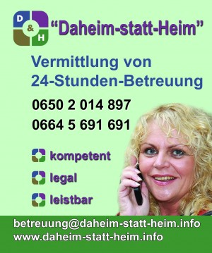 24-STUNDEN-BETREUUNG, Vermittlung slowakischer BetreuerInnen, kompetent-legal-leistbar, Förderung durch das Bundessozialamt möglich!