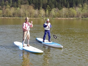Stand Up Paddling (SUP) am Sulmsee
