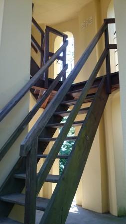 Holztreppe der Kreuzkogelwarte