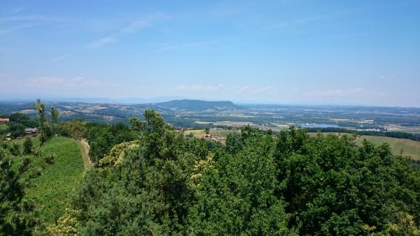Kreuzkogelwarte Blick Richtung Norden mit dem Wildoner Berg und dem Schöckl