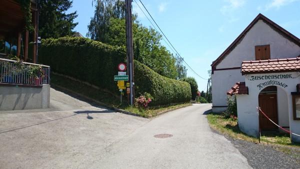 Aufgang zur Kreuzkogelwarte vom Kogelberg - Buschenschank Krautgasser