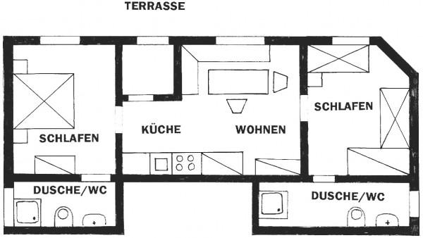 ****Terrassenappartement bis 4 Personen