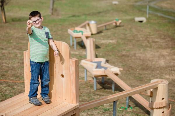 Holzkugelbahn beim Ratscher Landhaus