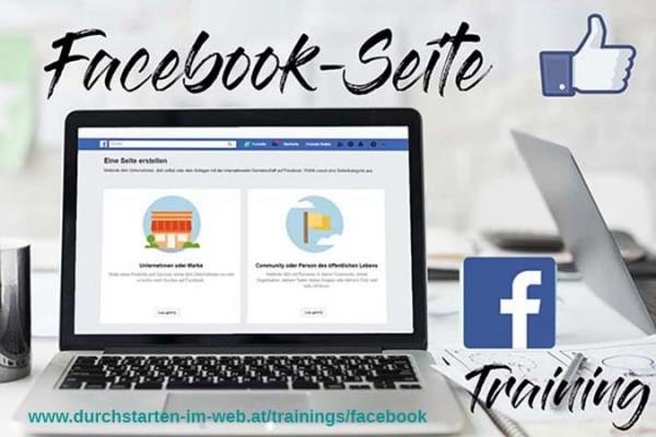 Training vor Ort: Facebook-Seite