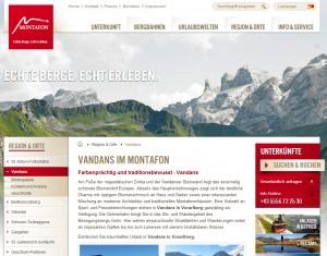 Vandans im Montafon - Urlaubsregion