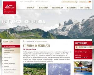 St. Anton im Montafon - Urlaubsregion