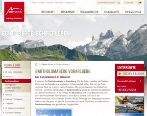 Bartholomäberg im Montafon - Urlaubsregion